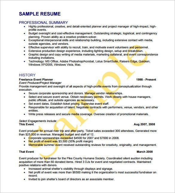 event coordinator resume planner resume coordinator resume