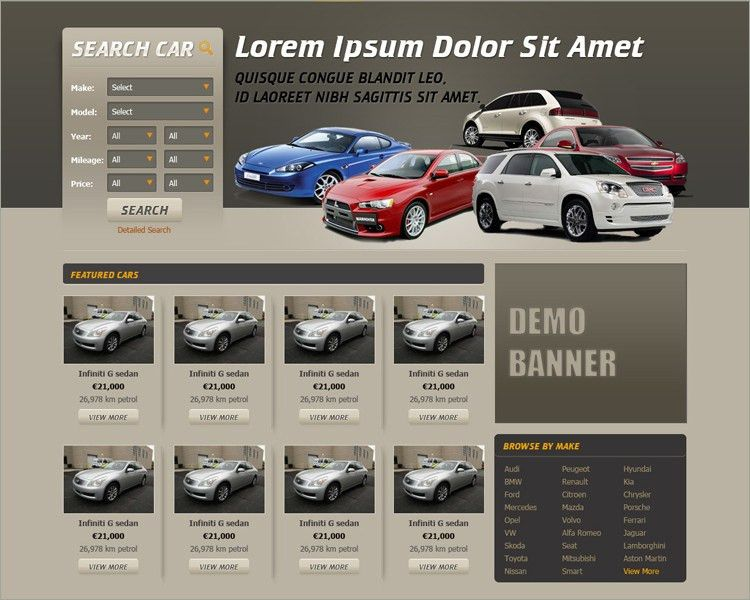 Car Dealer Website Themes & Templates || Free & Premium | Creative ...