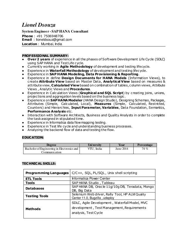 sap bpc consultant resume resume for your job application 100 sap