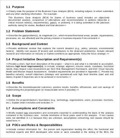 Business Case Analysis Template - 8+ Free Word, PDF Documents ...