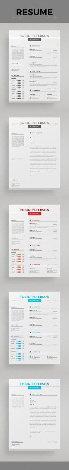 Free Resume Template for Graphic Designer | Misc | Pinterest ...