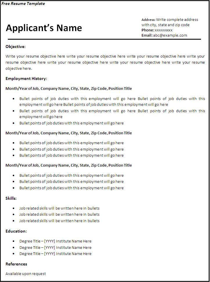 cv template word 2007 uk resume templates for word 2007. free ...