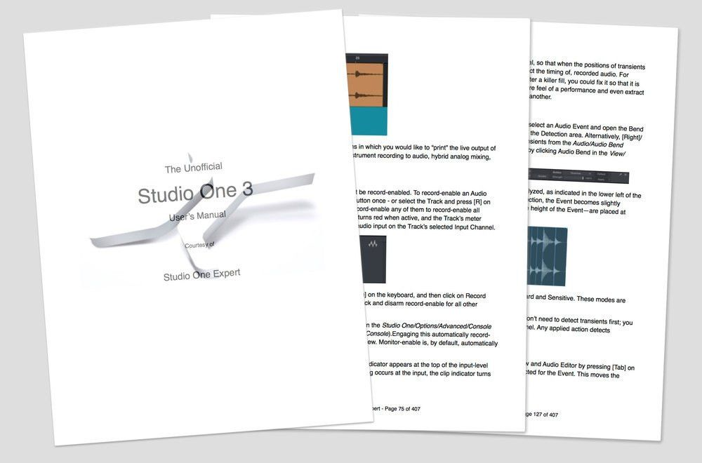 """The """"Unofficial"""" Studio One 3 Manual In PDF Format - Free From ..."""