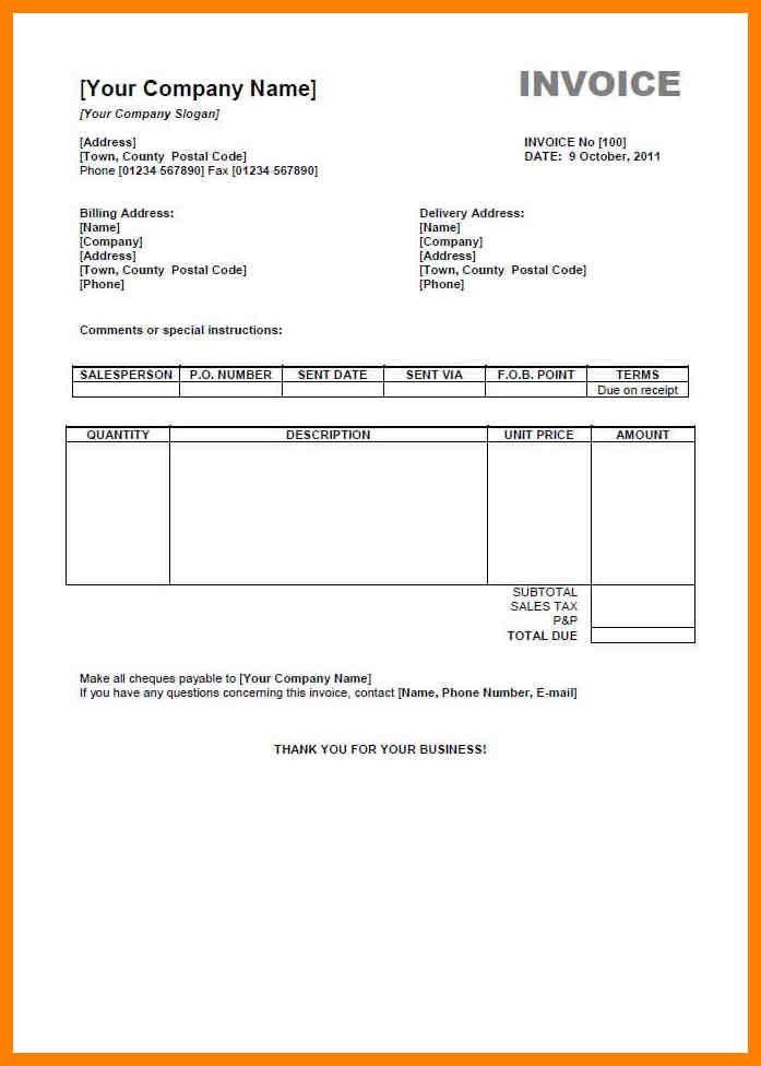 3+ bill formats | aplication format