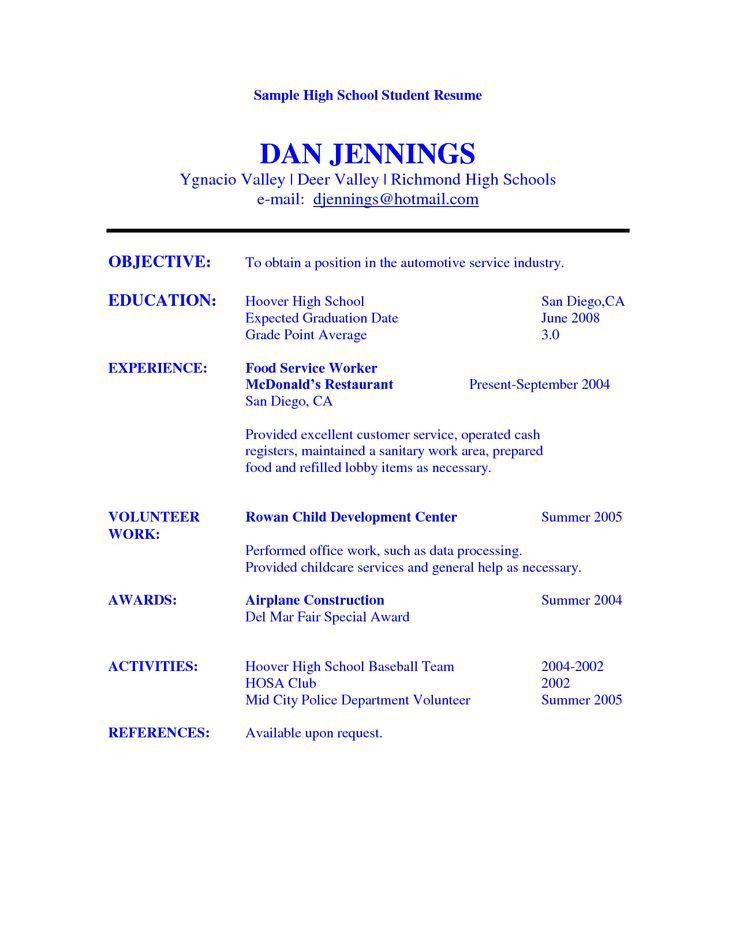 Example Of College Student Resume. College Resumes Samples ...