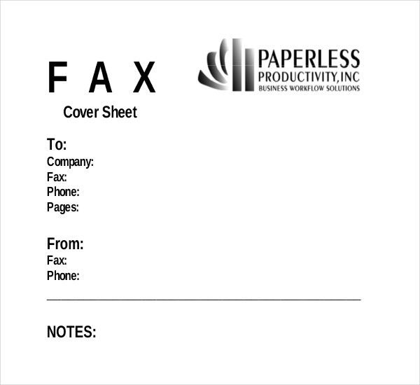 Fax Cover Template – 9+ Free Word, PDF Documents Dwonload | Free ...