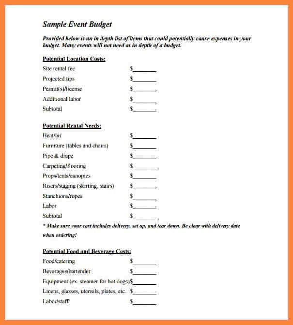 9+ event budget proposal template | Bussines Proposal 2017