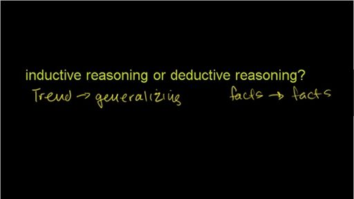 Inductive reasoning (example 2) (video) | Khan Academy