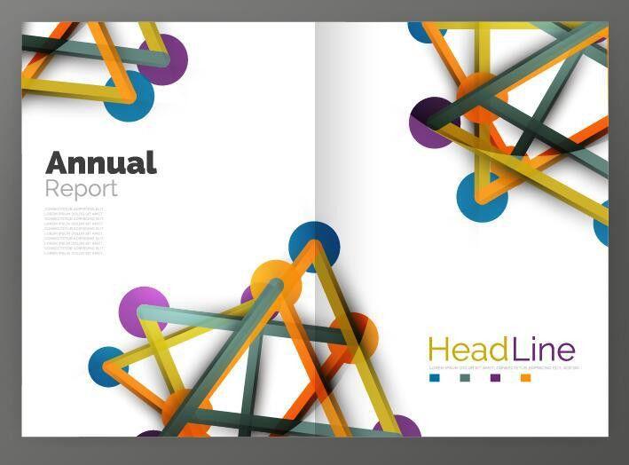 Molecule annual report brochure cover template vector 04 - Vector ...