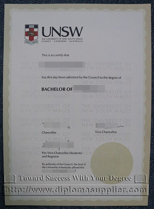 University of New South Wales/UNSW degree certificate, how to buy ...