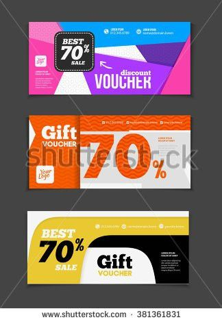 Gift Discount Voucher Template Modern Design Stock Vector ...
