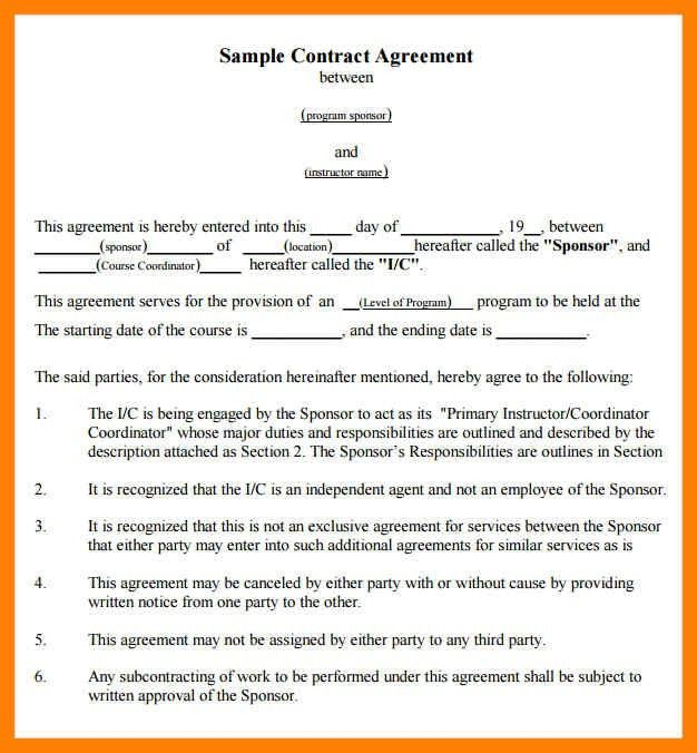 Beautiful Agreement Format Between Two Companies Images - Best ...