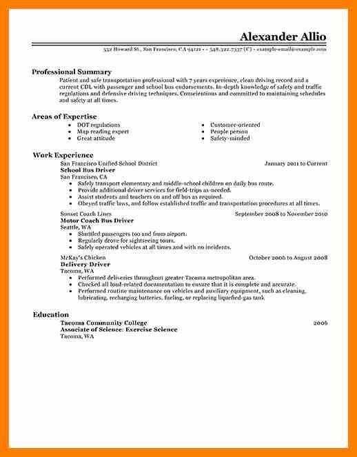 7+ sample bus driver resume | hostess resume