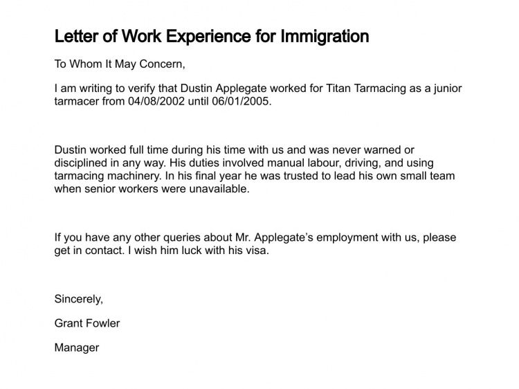 Employer Recommendation Letter For Immigration - Mediafoxstudio.com