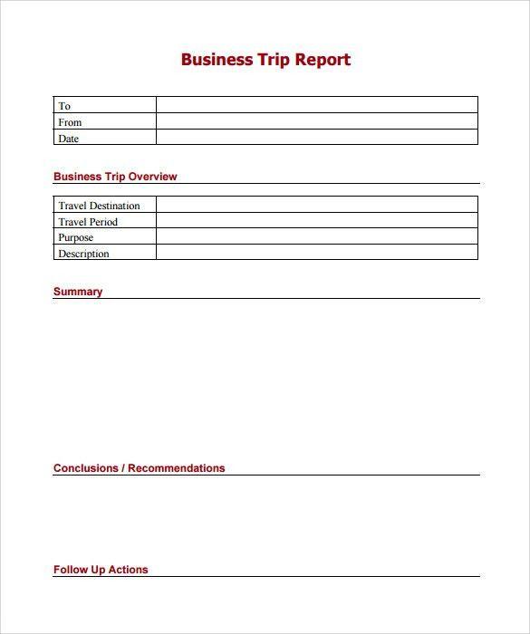 Sample Trip Report - 9+ Documents in PDF