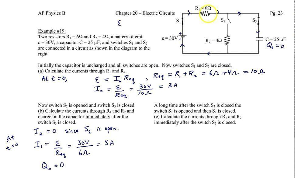 Symbols : Pleasing Circuit Physics Circuits Problems Rccircuits Rc ...