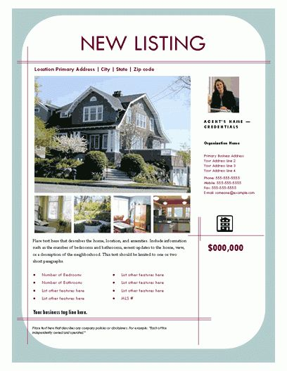Free Templates For Snazzy Real Estate Brochures