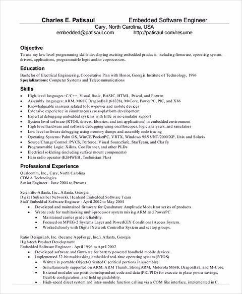 Resume Title For Software Developer. best software engineer resume ...