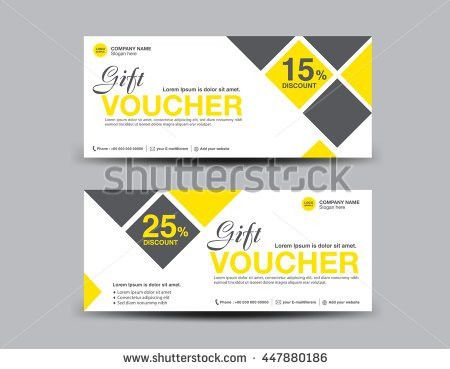 Yellow Discount Voucher template flyer design polygon background ...