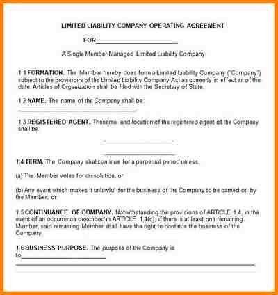 10+ llc operating agreement sample | mechanic receipt