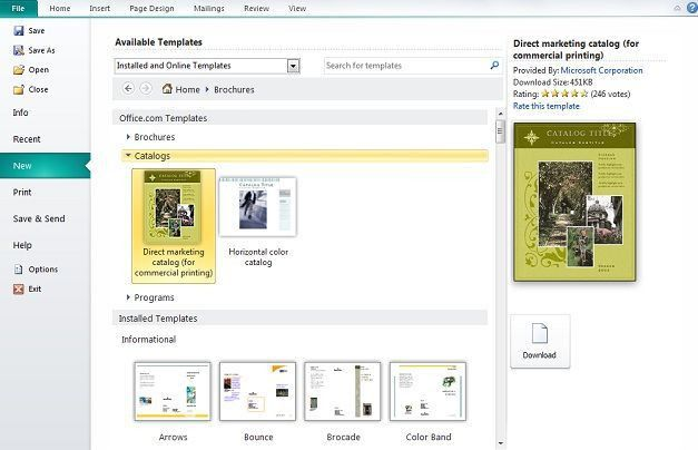 How to Create Catalog in Microsoft Publisher - SlideHunter.com