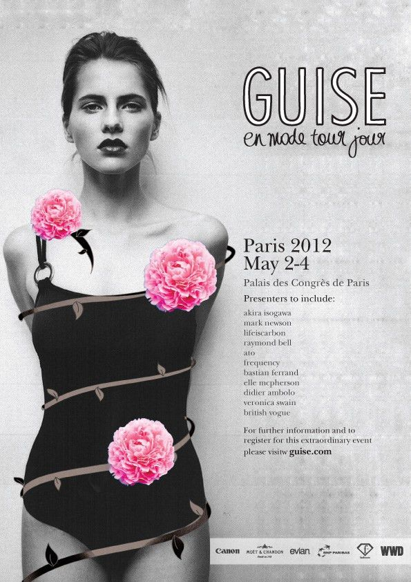 simple handdrawn elements on Fashion show poster | Mood Board ...