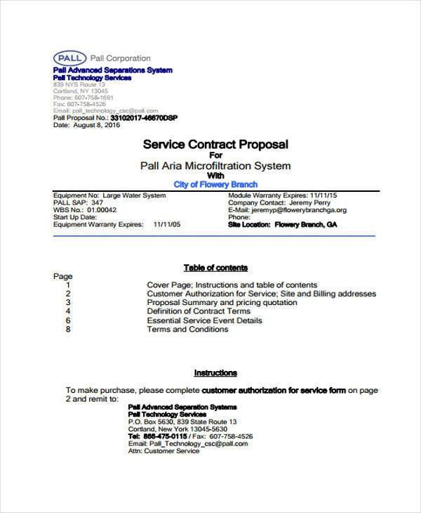 Contractor Proposal Template. Bid Proposal 8+ Contractor Proposal ...