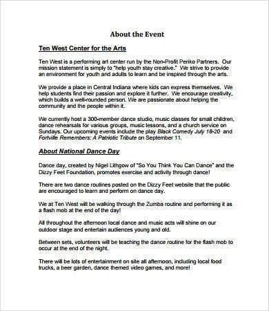 Event Proposal Templates - 8+ Free PDF Download Documents | Free ...
