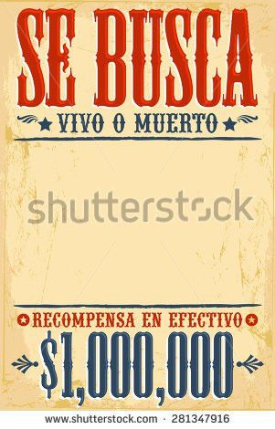 Se Busca Vivo O Muerto Wanted Stock Vector 242843056 - Shutterstock