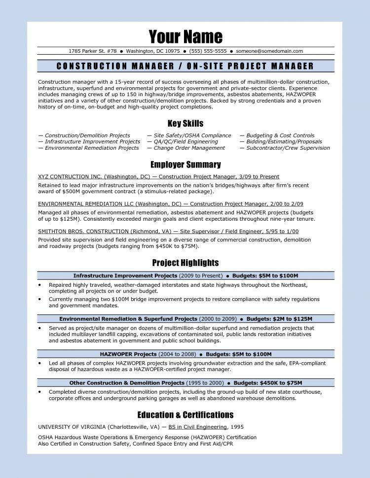 resume project coordinator