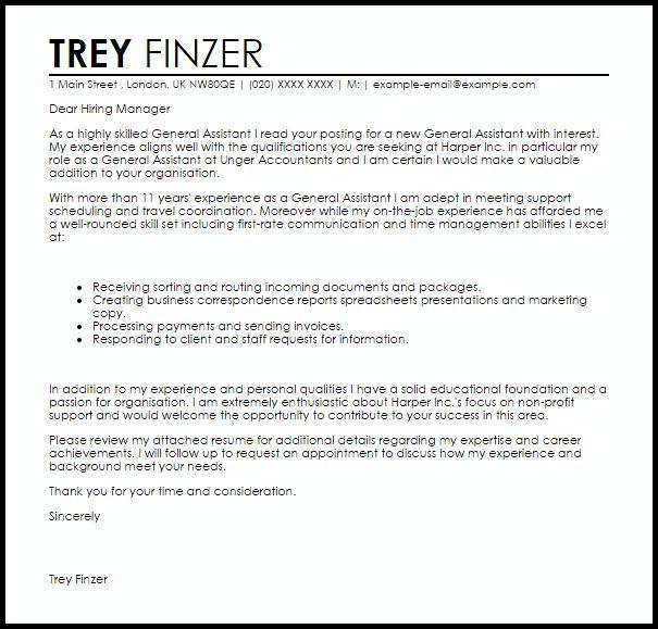 Blackboard administrator cover letter