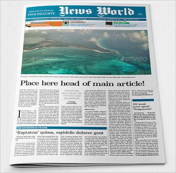 Newspaper Article Template – 10+ Indesign, EPS, PDF Documents ...