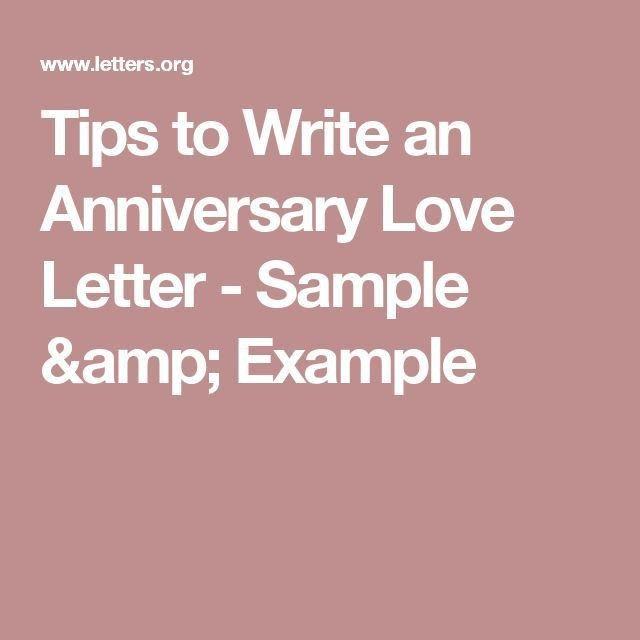 Tips to Write an Anniversary Love Letter - Sample & Example | 0 ...
