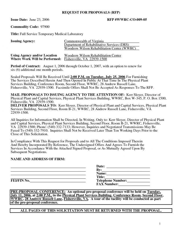 Business Lease Proposal Template Resume   Schoodie.com  Commercial Proposal Template
