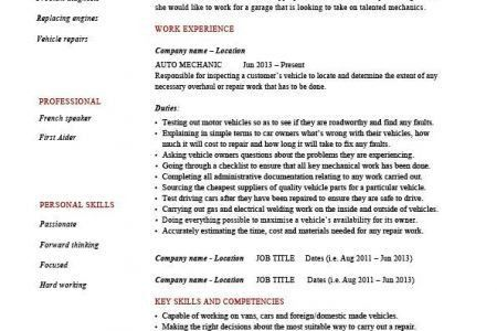 job sales associate resume job description. automotive service ...
