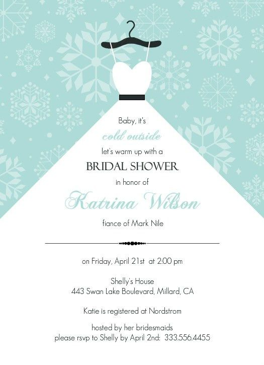 Sample Bridal Shower Invitations | christmanista.com