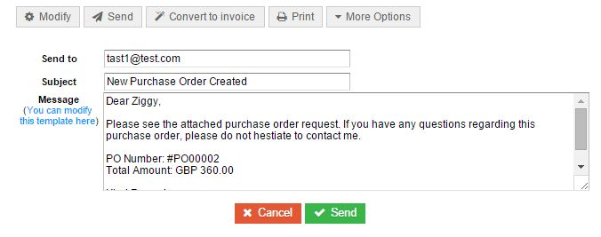 Purchase orders - Purchases - QuickFile