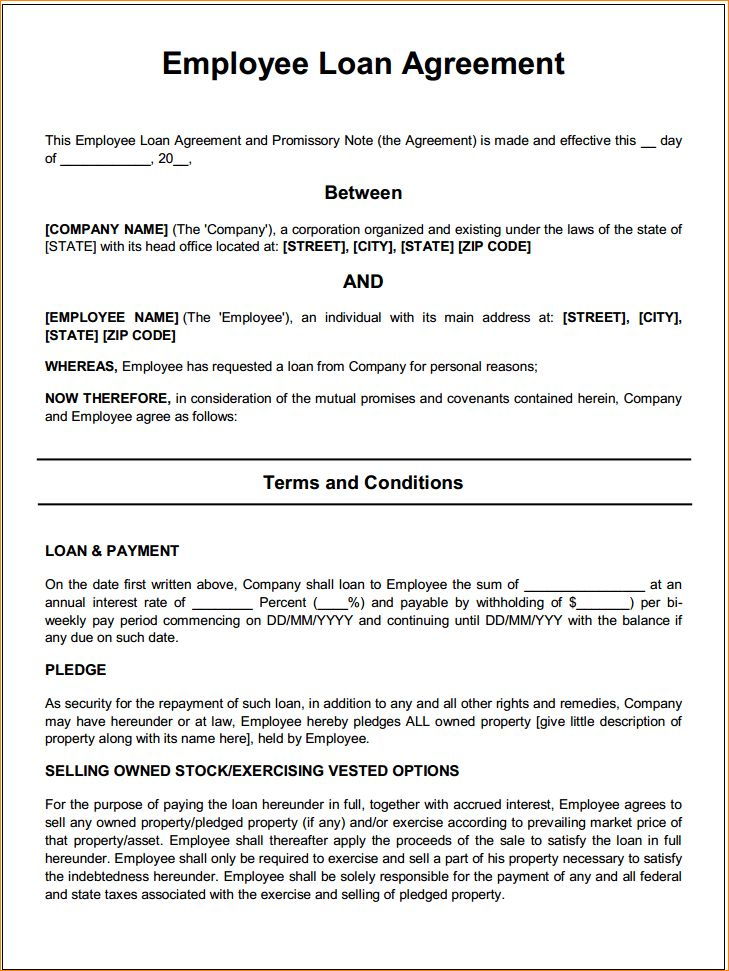 3+ loan agreement | Outline Templates