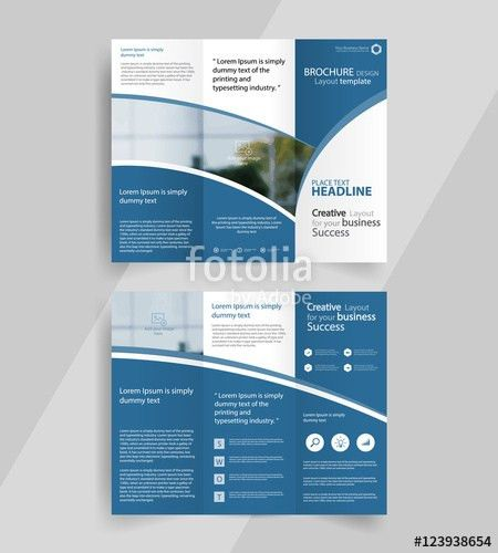 business tri-fold brochure layout design ,vector a4 brochure ...