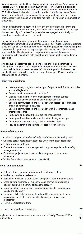 Safety manager resume 11 best resume sample for safety officer