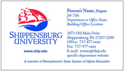Shippensburg University – News – Card request form