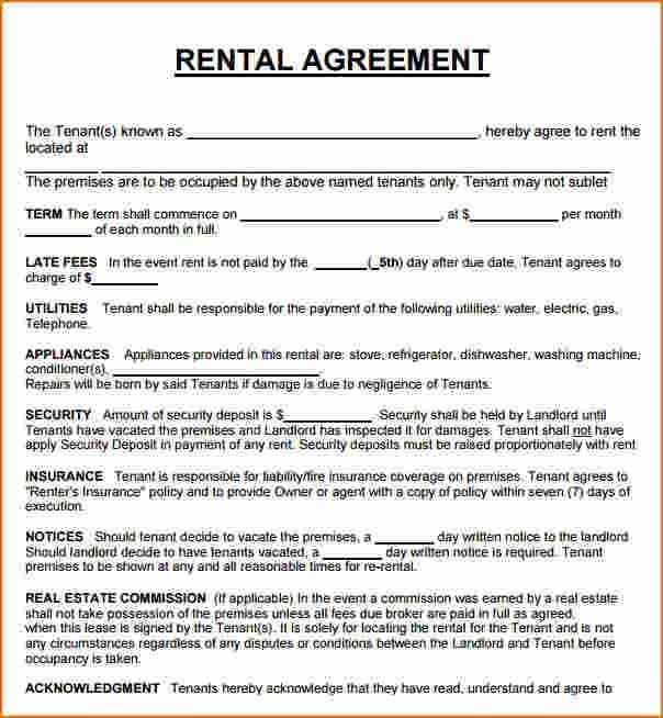Rent To Own Contract Sample. Sample Commercial Lease Form Template .