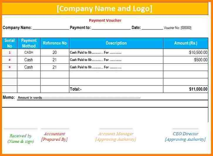 9+ payment voucher template excel free download | sample of invoice