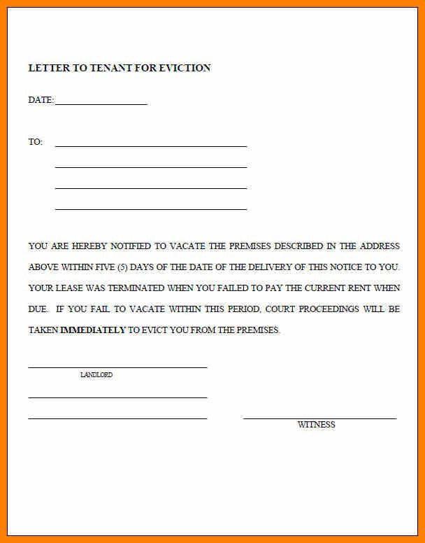7+ Free Eviction Notice | Cv Sample Format