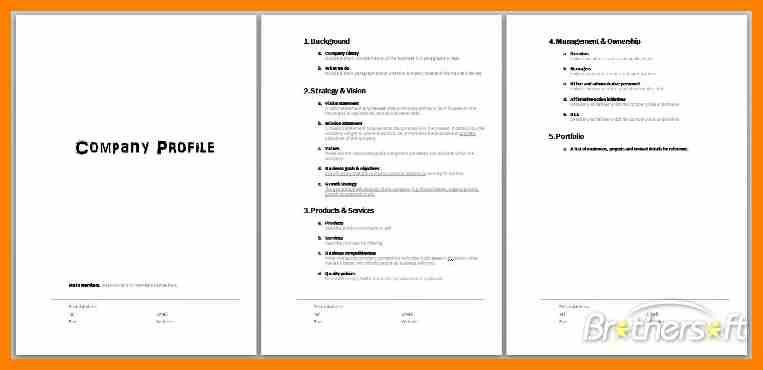 Company Profile Samples. Download Free Sample Company Profile Word ...