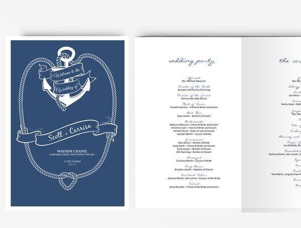 Wedding Program Template | Editable Word template | Instant ...