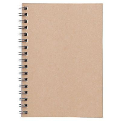Plantation Paper Double Ring Note A6 6mm Lined Beige