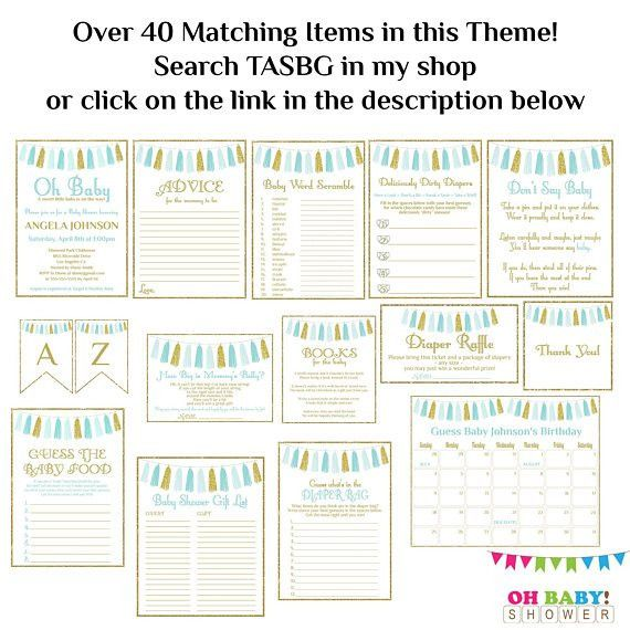 Printable Gift List Boy Baby Shower Guest Sign-in Sheet