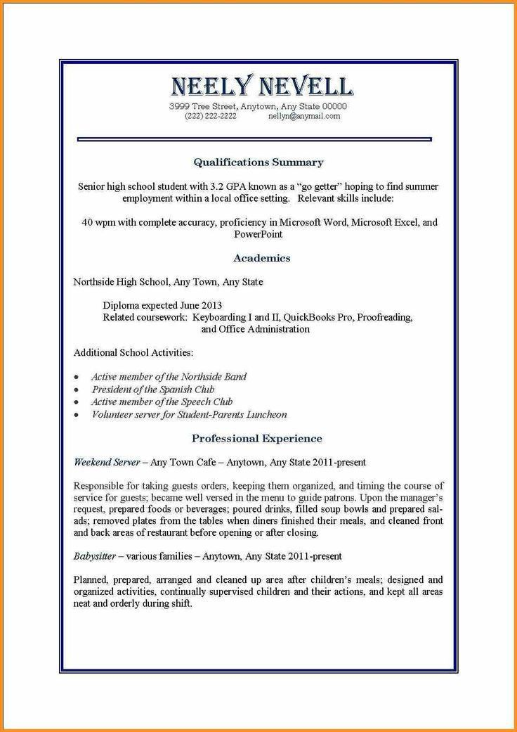 Example Of Resume For Highschool Graduate In Philippines - Templates