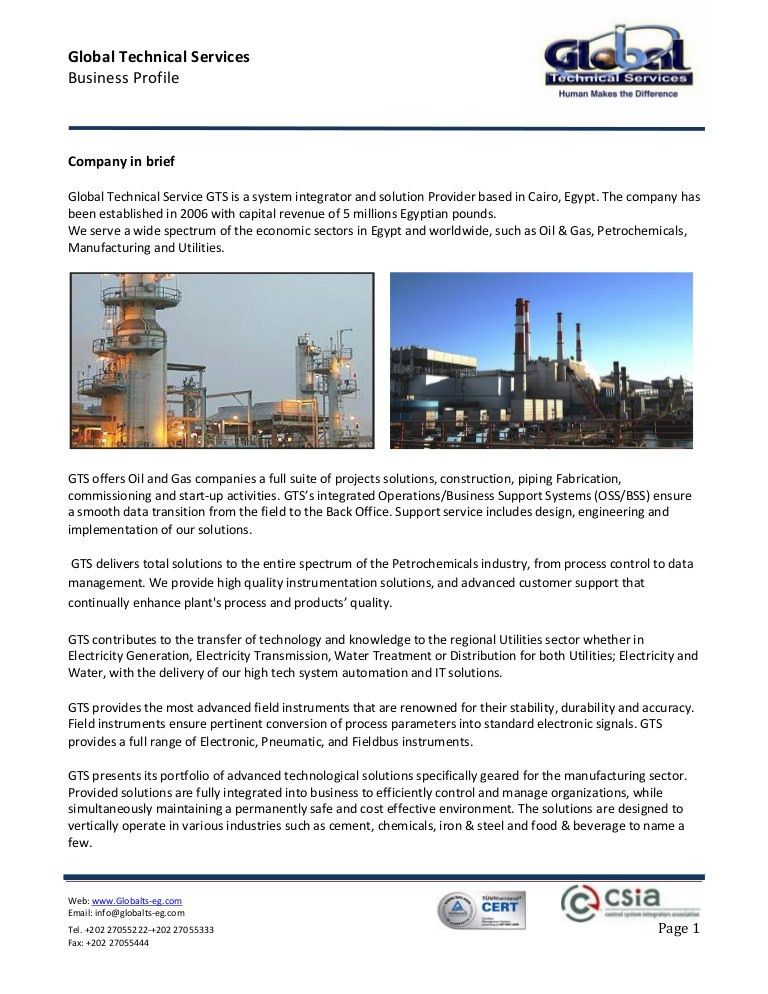 Global Technical Services - Company Profile